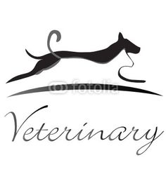 Cat and dog logo silhouette