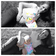 Pregnant before and baby after