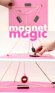 Magnet Magic Try these 4 easy magnet experiments with this super simple set up!<br> 4 easy magnet experiments that will amaze your kids! Kid Science, Science Projects For Kids, Stem Projects, Science Fair, Science Activities, Activities For Kids, Les Inventions, Cool Science Experiments, Sight Words