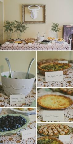 Baby shower potluck - guests bring their own comfort food or foods that they craved during pregnancy