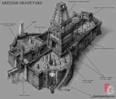 grecian graveyard from black and white 2