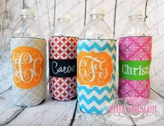 Hey, I found this really awesome Etsy listing at http://www.etsy.com/listing/126377873/personalized-monogrammed-koozie-water