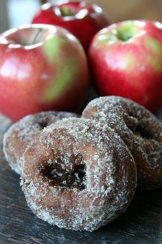 Apple Cider Donuts.  Must go to Tanners Apple Orchards to get some this fall.