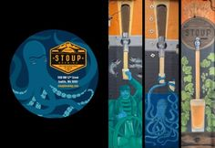 Stoup Brewery Coaster and Murals
