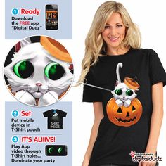 Best Halloween costume. Use your iPhone, iPod, or iPad to animate your t-shirts. (video)