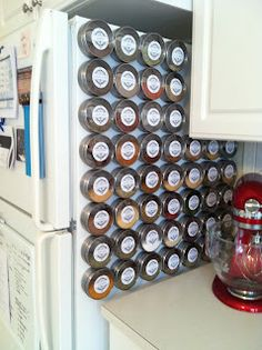 Spice Organization Small Space - 10 Stylish Spice Storage Ideas For Your Wonderful Kitchen Spice Rack Organization, Spice Storage, Small Space Organization, Diy Kitchen Storage, Diy Storage, Kitchen Organization, Storage Ideas, Organizing, Storage Hacks