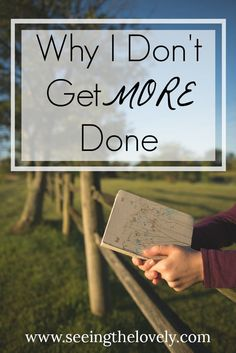 Why I don't get more done in a day and why organization and planning can't fulfill all of your daily needs!