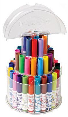 Pipsqueak telescoping marker tower. Also find crayon equivalent.