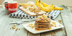 Part pancake, part banana bread, these vegan, gluten-free banana protein pancakes are packed with plant-based goodness & make a delicious post-workout meal.