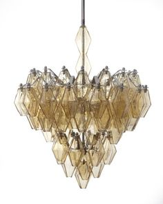 this is the one! Amber Glass Chandelier - Horchow