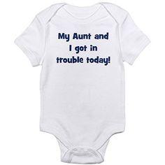 Cafepress Fun Aunt Newborn Baby Bodysuit