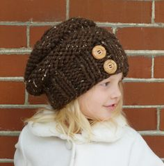 Hand Knit Toddler Slouchy Beehive Hat in by BoPeepsBonnets on Etsy, $30.00