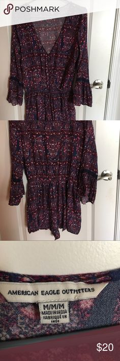 AE romper! In perfect condition. I am 5'5 and shorts fit perfectly. Super cute for spring/summer! American Eagle Outfitters Other