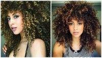 cabelo crespo com luzes