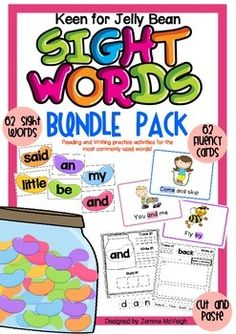 These activities are to help students learn to read and spell the most commonly used words in the English language.In this resource pack there is focus on 62 words that make up on average one half of all reading.The words have been separated into six groups consisting of 10 - 11 words in each group.