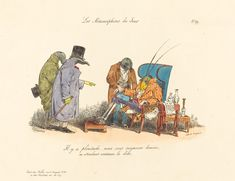 Jean-Ignace-Isidore Grandville, 'The Ailing Cricket', 1829