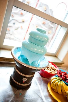"Seuss party - ""blue"" chocolate fountain"