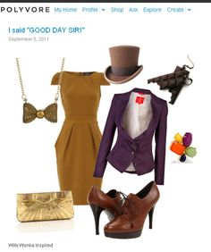 I would wear this without hesitation! My Willy Wonka inspired, Polyvore creation. ;)