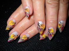 autumn leaves by evamai - Nail Art Gallery nailartgallery.nailsmag.com by Nails Magazine www.nailsmag.com #nailart
