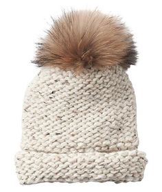 Baby, it's cold outside. Keep her warm on a blustery, snowy winter afternoon with this seriously soft and oh-so-adorable beanie. It's as on-trend (hello, matching pom-pom topper!) as it practical. Plus, it's stretchy enough to comfortably fit most crowns (whether her head skews small, large, or somewhere in between). She'll wear it on her way to work, on the ski slopes, or while running errands on the weekends.