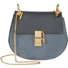 Chloé Medium Drew Shoulder Bag.  Love the suede and smooth leather combo.