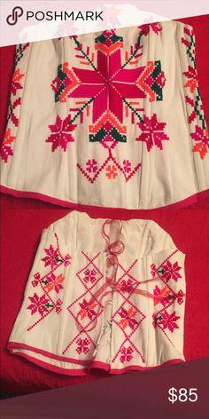 Corset embroidery Mexican Huasteca potosina hand made Tops Tank Tops