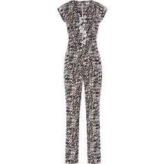 Black and White Print Jumpsuit by Reiss. Buy for $195 from Reiss