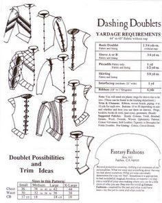 Yardage requirements for Alter Years Dashing Doublets pattern.