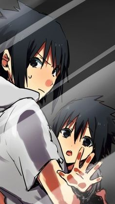 Screensaver young Sasuke and older Sasuke