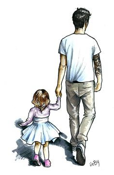 Father Daughter Tattoos, Father Daughter Photos, Mother Daughter Art, Tattoos For Daughters, Daddy Daughter, Human Figure Sketches, Figure Sketching, Figure Drawing Reference, Cool Pictures For Wallpaper