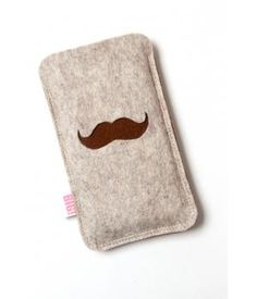 Felt phone case MOUSTACHE