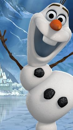 Funny 2014 Christmas Frozen iPhone 6 Plus Wallpapers - Disney Olaf for Girls #2014 #Christmas #Frozen