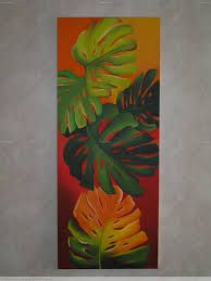 Indoor Benches - A Single Is Ideal For Creating A Cozy Den House Cuadros Mandala Design, Tropical Art, Leaf Art, Acrylic Art, Fabric Painting, Painting Inspiration, Art Lessons, Flower Art, Watercolor Paintings
