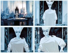 My first and most formative Snow Queen, from the 1957 Russian animated children's film {one1more2time3.wordpress.com}.
