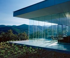 Obsessed with glass houses! Although there is a certain lack of privacy in exposing your entire home to the outside I think living in such a house in a more secluded area would be nothing short of magical.