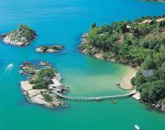 Resort Ponta dos Ganchos na cidade de Governador Celso Ramos, a apenas 40 km de Florianópolis, Brasil
