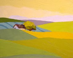 From Field to Field- Landscape Painting- 16x20 Original Oil Painting, on Canvas