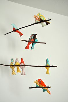 diy bird mobile// made one of these before, but maybe this time for my own sweet little!
