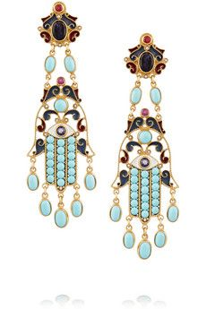 Percossi Papi Gold-plated multi-stone earrings | NET-A-PORTER