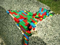 Lego Street Art in Warsaw, Poland