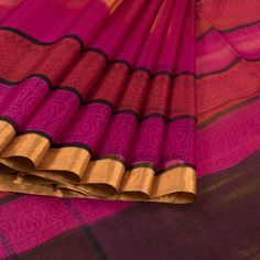 Ghanshyam Sarode Printed Kota Silk Saree with Batik Printing & Multicolour Border 10008207 - profile - AVISHYA.COM
