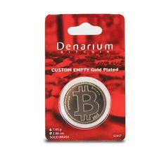Denarium Пользовательские 0 - 5 BTC Позолоченные упакована