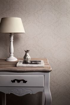 Wallpaper Treasures White Ornaments / Behang Treasures Wit Ornamenten - BN Wallcoverings