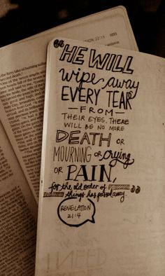 Death will no more! Revelation 21:4.