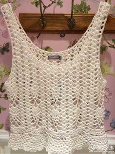 Honda Weste _ Häkelarbeitshow _ Life Knitting Forum – - Cars and motorcycles Crochet Summer Dresses, Crochet Summer Tops, Crochet For Kids, Crochet Shirt, Crochet Crop Top, Knit Crochet, Crochet Braids, Free Crochet, Crochet Cover Up