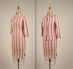 1960er Jahre gestreift Cheongsam Kleid und von MintageClothingCo
