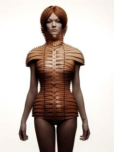 leather top Una Burke. What? What a different idea!