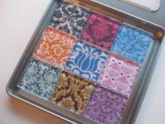 Damask Refrigerator Magnets Set of 9 Fridge Magnets by DLRjewelry, $16.00