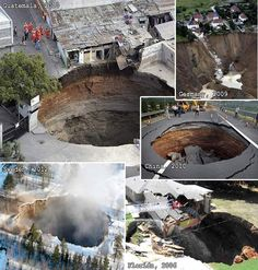 Blog site dedicated to tracking current sinkhole incidents.  Scroll down for current postings. Events are too numerous to count.
