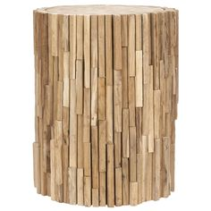 Safavieh Bali Teak Strips Round End Table - Overstock™ Shopping - Great Deals on Safavieh Coffee, Sofa & End Tables